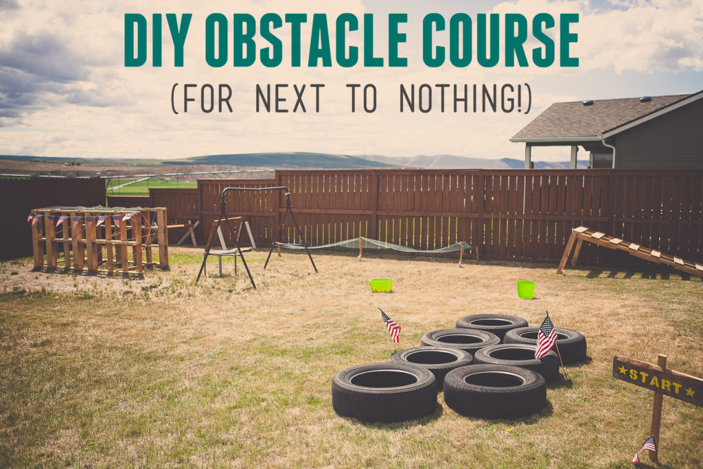 Boy S Army Birthday Party Diy Army Obstacle Course For
