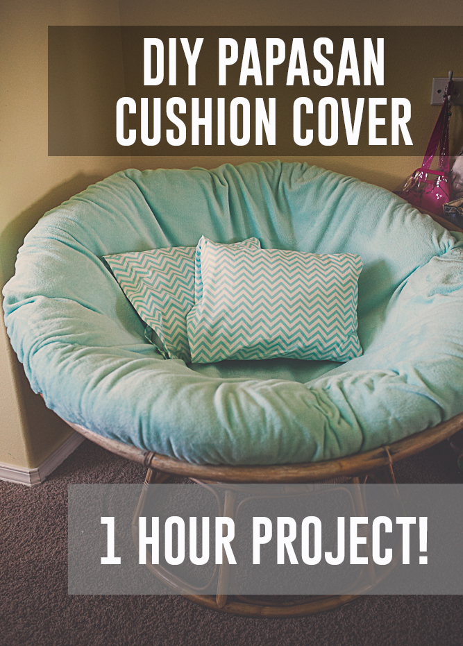 DIY Papasan Chair Cushion Cover Budget Friendly Kaylee Eylander DIY