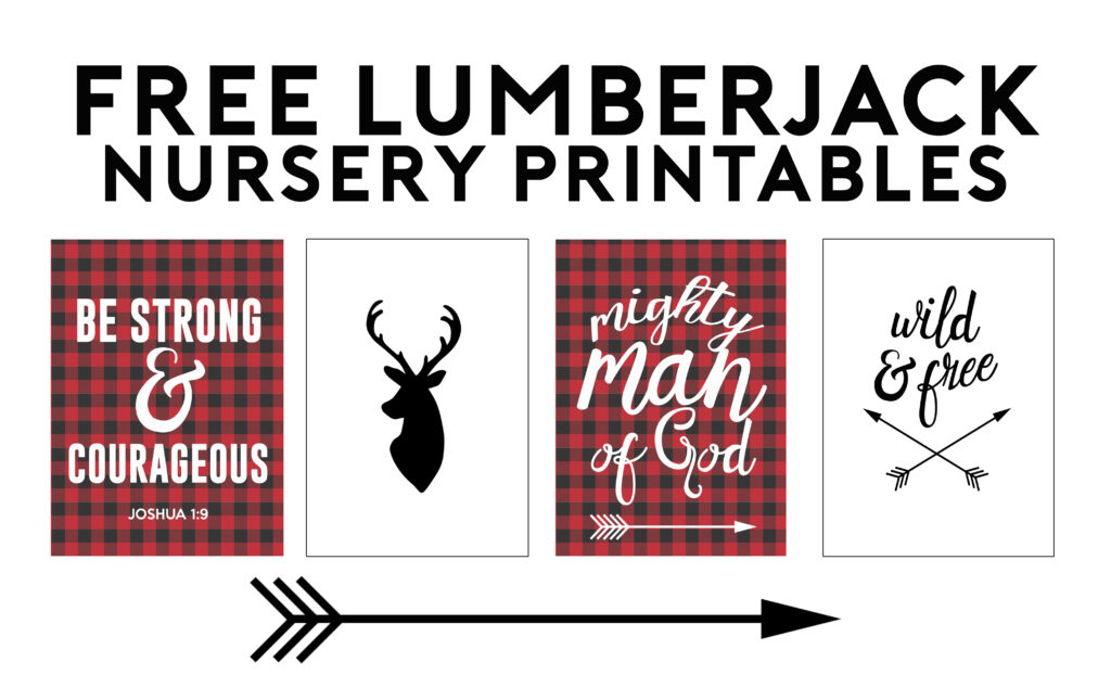 Lumberjack Free Printables Nursery Gallery Wall Ideas